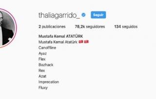 Un hacker hace un directo en el Instagram de Thalía de OT